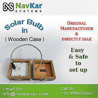 Solar Bulb (Wooden)  Solar Powered Bulb  Solar Educational Kits