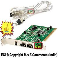 CROWN Best Dv Capture PCI Firewire Iee1394 Card  Iee 1394 Fire Wire Port Cable