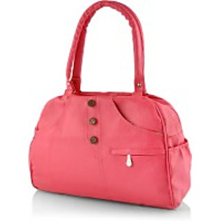 Chhavi Pink Plain Handbag