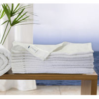 Story @ Home White 100 Cotton 10 PC Face Towel-TW1201-S