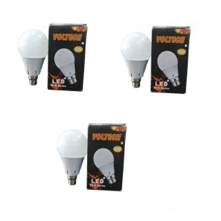 set of 3 pcs 9w led bulbs with white light