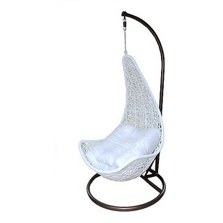 Cane world Comfy swing In White Colour
