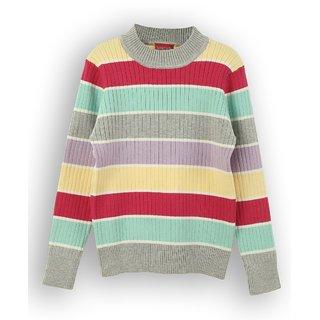 Striped Crew Neck Sweater (8907264022514)