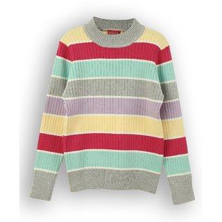 Striped Crew Neck Sweater (8907264022613)