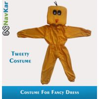 Tweety Bird Costume For Child Fancy Dress Competition Large Size 9 - 11 Years