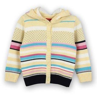 Hooded Woolen Cardigan (8907264022026)