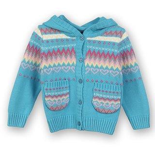 Woolen Hooded Cardigan (8907264022101)
