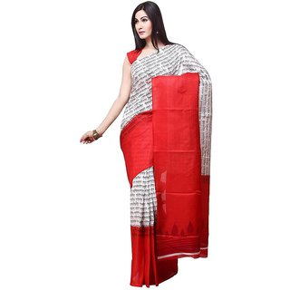 Printed Bhagalpuri Silk Saree