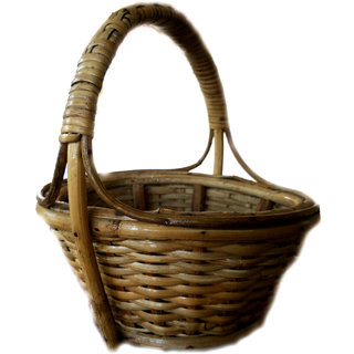 Assam Picnic Bamboo Fruit  Vegetable Basket (Brown)
