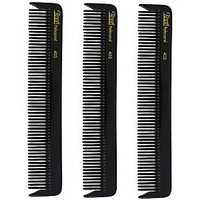 Roots Professional Cutting Combs - Black - Pack Of 3-(403X3)