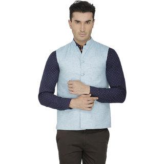 Inspire Light Blue Linen Modi Jacket