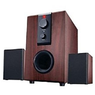 iBall Raaga 2.1 Q9 Full Wood Speakers ((Rosewood))