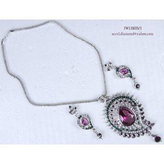 Exclusive designer CZ Diamond Necklace Set - JWLIMI021