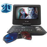 3D Portable DVD Player With 7.8 Inch TFT Led Screen HD