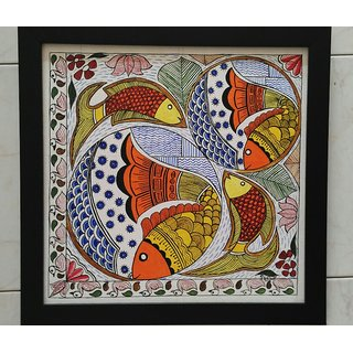 Acrylic on Canvas Madhubani Artform