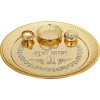 Being Nawab Brass Pooja  Thali Set