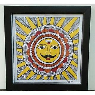 Acrylic on Paper Madhubani Artform
