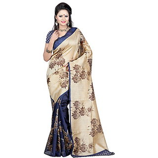 Merry Sarees Printed Bhagalpuri Silk Sari