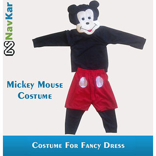 Mickey Mouse Costume For Kids Fancy Dress Competition Large Size 9 - 11 Years
