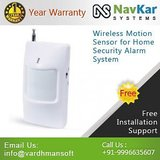 Wireless Motion Sensor For Home Security Alarm System