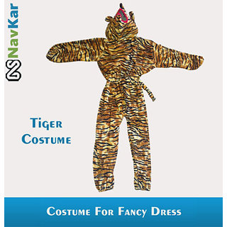 Tiger Costumes For Kids Fancy Dress Competition Large Size 9 - 11 Years