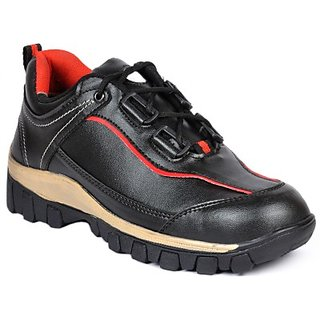 Wonker Mens Black Lace-up Smart Casuals Shoes