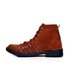 RAMZY OVER LESS BROWN CASUAL BOOTS