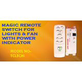 ATB New Compact Remote Switch for 4 Lights & 1 Fan with indicator