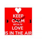 Zeeshaan Love Is In The Air Wall Clock