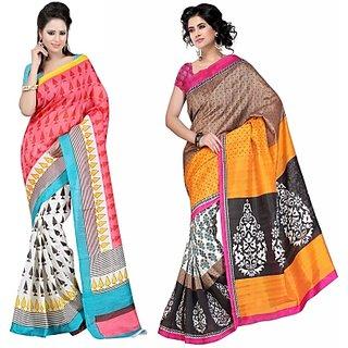 Muta Fashions Groovy Bhagalpuri Sari Pack Of 2
