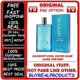 100% REAL DAVIDOFF COOL WATER GAME 100ML PERFUME FOR MEN + 40% DISCOUNT