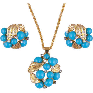 Trendy Golden Pendant Set C2