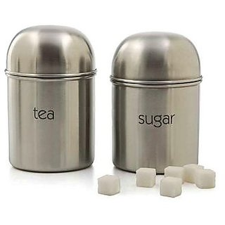e81bf4b7955 Tea Sugar steel canister set available at ShopClues for Rs.320