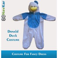 Popular Donald Duck Cartoon Character Costume For Kids Small Size 4 - 7 Years