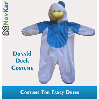 Popular Donald Duck Cartoon Character Costume For Kids Medium Size 7 - 9 Years