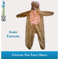 Popular Cartoon Character Jerry Costume For Kids Small Size 4 - 7 Years