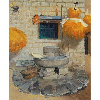 Vitalwalls Landscape Painting Canvas Art Print (Landscape-333-30Cm)