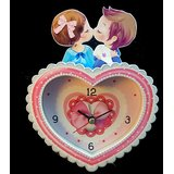 Valentine Day Gift - Cute Heart Shaped Kissing Couple Shaped Table Watch