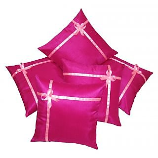 Gift Wrap Fushia Cushion Covers 40X40 Cms -5 pcs set (ZE6065)