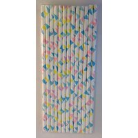 Funcart Funcart Paper Straws 25Pcs Colourful Flage Design Design