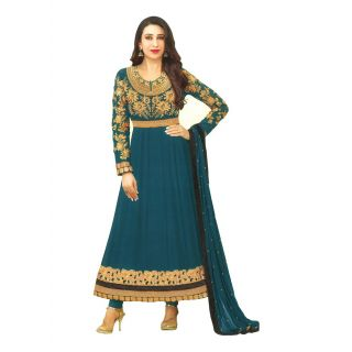 MF Karishma eliza Embroidered Designer Georgette Anarkali Dress Material