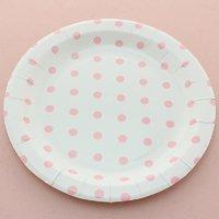 Funcart Pink Polka Dot Round 9 Plates (12 Pcs Per Pack)