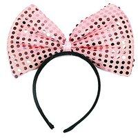 Funcart Pink Sequin Bow Headband