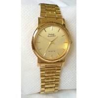 HMT  All Over Gold Plated Mens Womens Watch With Box