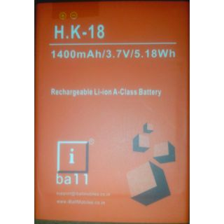 Best Quality Replacement Battery For iBall H-K18 1400mah