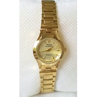 HMT All Over Gold Plated Womens Watch With Box And 1 Year Warranty