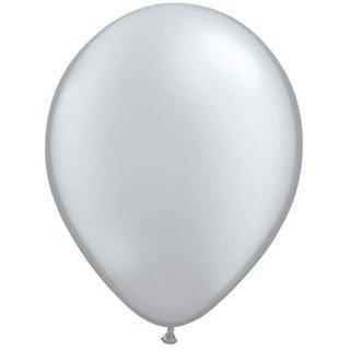 Funcart Silver 8 Metallic Latex Balloons (Pack Of 10)