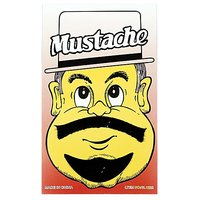 Funcart Single Stick On Moustache With Beard Design 4