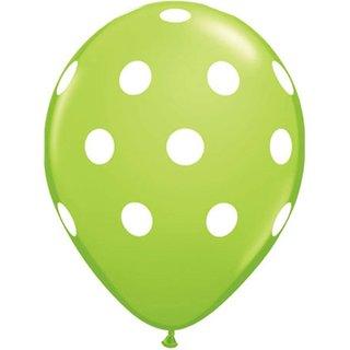 Funcart Green Polka Dots Balloons (Pack Of 5)