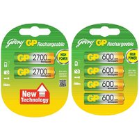 GODREJ GP COMBO 2700  600 MAH RECHARGEABLE BATTERIES